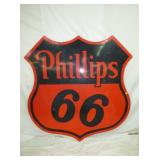 6FT PORC PHILLIPS 66 SHEILD SIGN