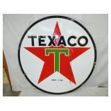 6FT PORC TEXACO SIGN