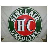 6FT PORC SINCLAIR H-C SIGN