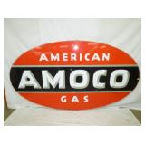 54X65 PORC AMOCO GAS SIGN