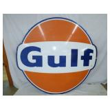 6FT PORC DOG EAR GULF SIGN