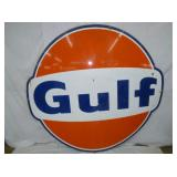 6FT GULF  SIGN #2 GULF DOG EAR