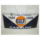 31X71 PORC GULF GASOLINE SIGN