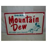 36X59 1964 MOUNTAIN DEW SIGN