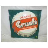 35X35 EMB ORANGE CRUSH SIGN
