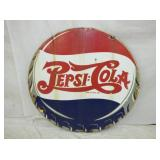 RARE 42IN PORC DOUBLE DOT PEPSI SIGN