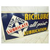 2ND VIEW CLOSEUP RICHLUBE SIGN