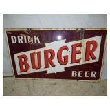 32X56 PORC BURGER BEER SIGN