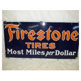 30X60 PORC FIRESTONE TIRE SIGN