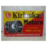 24X36 PORC KIRLOSKAR MOTORS SIGN