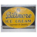 24X36 BILTMORE ICE CREAM SIGN