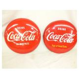 2 ORIG 12IN COKE BUTTONS