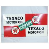 11X22 NOS TEXACO MOTOR OIL SIGN