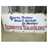 SIGN #2 LUBRITE GASOLINE SIGN