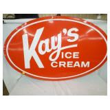 36X56 EMBO. KAYS ICE CREAM SIGN
