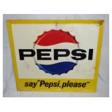 41X47 1962 PEPSI PLEASE SIGN