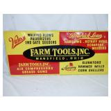 16X36 EMB. FARM TOOLS SIGN