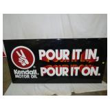 35X70 EMB. KENDALL MOTOR OIL SIGN