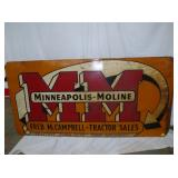 35X70 MINNEAPOLIS MOLINE SIGN
