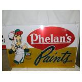 47X70 1965 PHELANS PAINTS SIGN