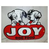 31X44 DIE CUT JOY DOG FOOD SIGN