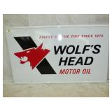 36X60 EMB. 1980 WOLFS HEAD MOTOR OIL