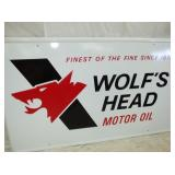 2ND VIEW CLOSEUP WOLFS HEAD SIGN