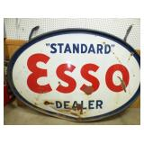 63X90 PORC. ESSO DEALER SIGN
