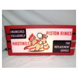 11X27 HASTING PISTON RINGS LIGHTUP SIGN