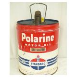 POLARINE 5G. STANDARD OIL CAN