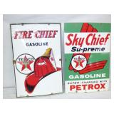 PORC. FIRE CHIEF, SKY CHIEF PUMP PLATES