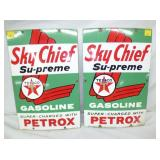 1959 PORC. SKY CHIEF PUMP PLATES