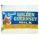 46X92 1954 GOLDEN GUERNSEY MILK SIGN