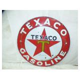42IN PORC. TEXACO SIGN