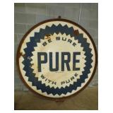 6FT. PORC. PURE SIGN W/ FRAME