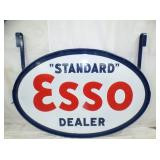 RARE 10X60 PORC. ESSO DEALER SIGN