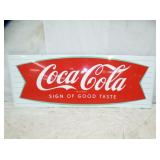 25X68 PORC. FISHTAIL COKE SLED SIGN