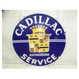 42IN PORC. CADILLAC SERVICE SIGN