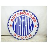 UNUSUAL 27IN MATHIS AUTOMOBILES SIGN