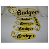 5X15 AND 8X27 EMB. BADGER SIGN