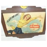 2NDIVEW CLOSEUP DR. PEPPER CARD BOARD W/ FRAME