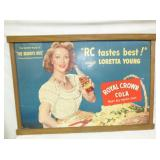 29X41 ROYAL CROWN CARDBOARD SIGN