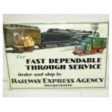 2ND VIEW RR EXPRESS AGENCY SIGN