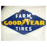38X72 1952 PORC. GOODYEAR FARM TIRES SIGN
