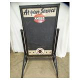 UNUSUAL 33X56 AMOCO SIDEWALK SIGN