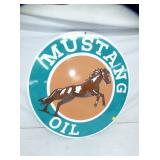 2ND VIEW OTHERSIDE MUSTANG PORC. SIGN