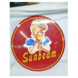 2ND VIEW OTHERSIDE PORC. SUNBEAM BREAD SIGN