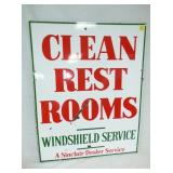 30X37 PORC. CLEAN REST ROOMS SIGN