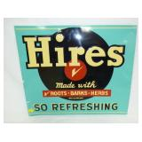 24X28 EMB. HIRES ROOTBEER SIGN