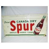 36X72 EMB. CANADA DRY SPUR SIGN
